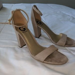 G by guess Taupe suede  Block heels
